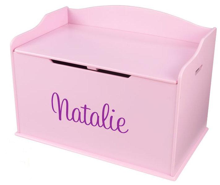Spielzeugtruhe austin personalisiert kidkraft pink mit