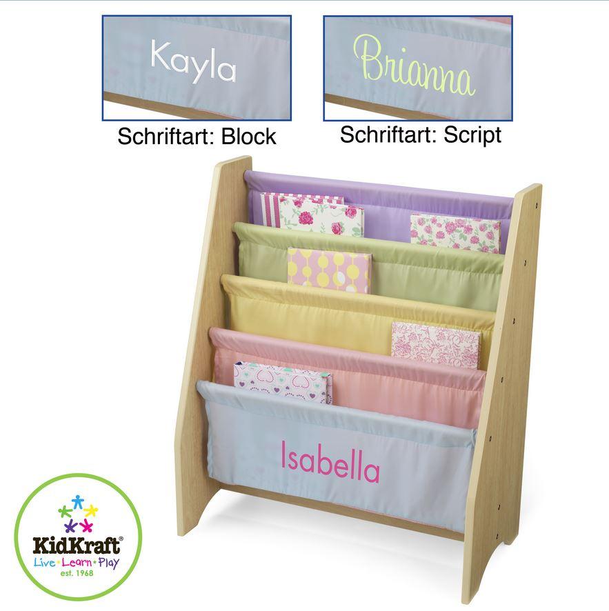 Kinder Bücherregal kinder bücherregal hängefach regal personalisiert kidkraft
