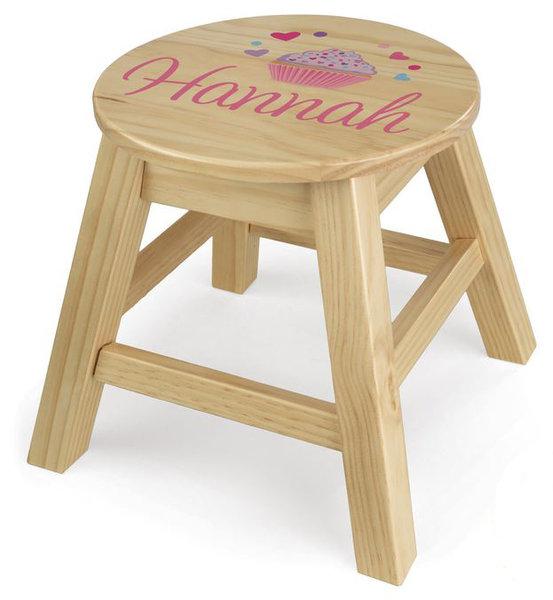 kinder hocker personalisiert rund natur kidkraft mit name. Black Bedroom Furniture Sets. Home Design Ideas